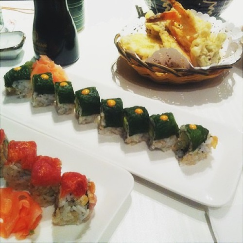 Last nights dinner at Sushi Queen. Horrible service (specifically make servers), but the food was decent.