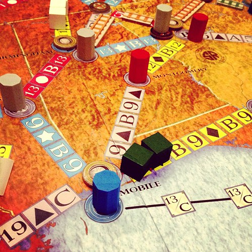 Railroads to build in Rolling Freight #boardgames