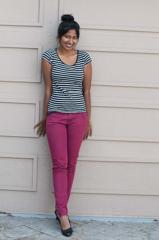 Pairing Stripes with Bright Pants-5