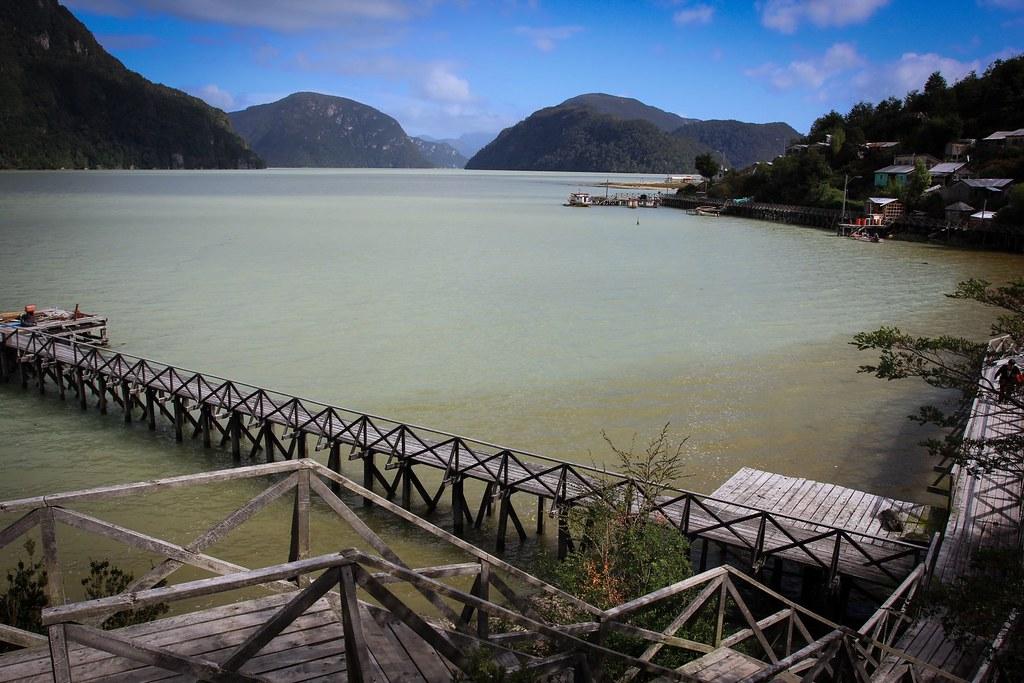 Tortel's bay. Aysen, Chile.