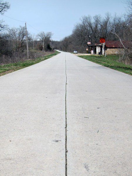 Concrete pavement.