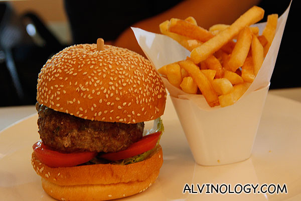 Wagyu burger at The Marmalade Pantry @ Stables