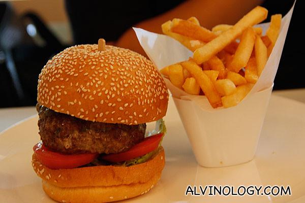 Wagyu burger at The Marmalade Pantry @ Stables