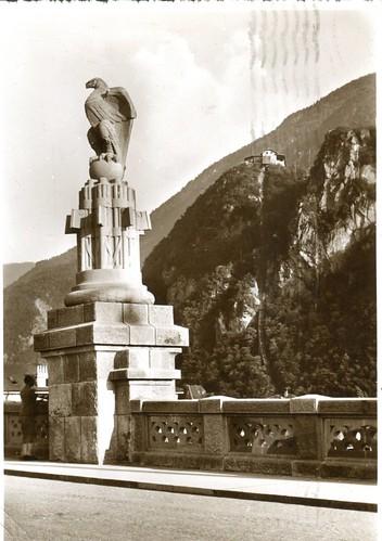 postcard - bolzano - dettaglio ponte druso - 1934