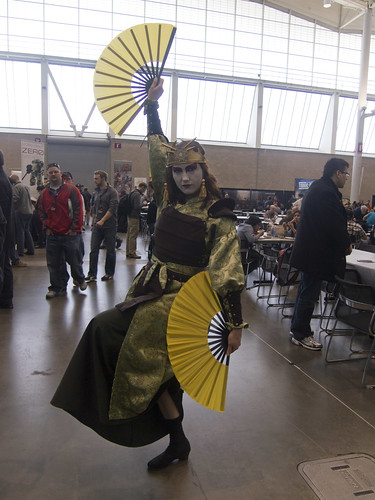 Cosplayer in Tabletop Room