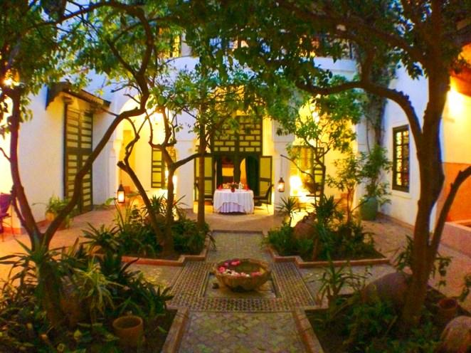 riyad dining area in morocco