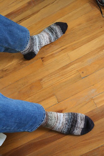 knitted :: handspun Dad Socks