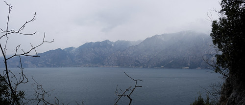 view of the lake on a grey cold february day