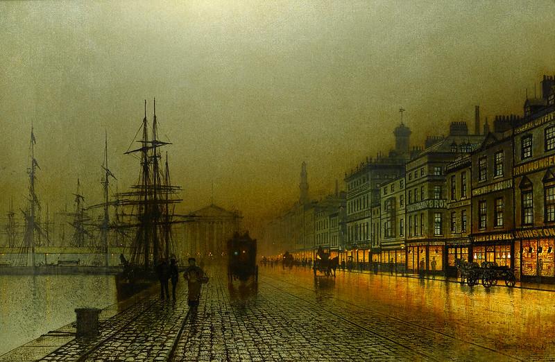 Greenock Harbour at Night,1893