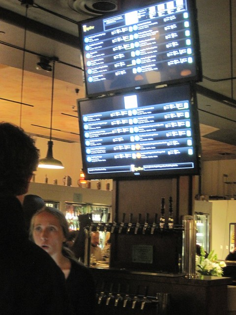 DigitalPour displays provide useful beer list info and also send updates to social media when new beers are tapped.