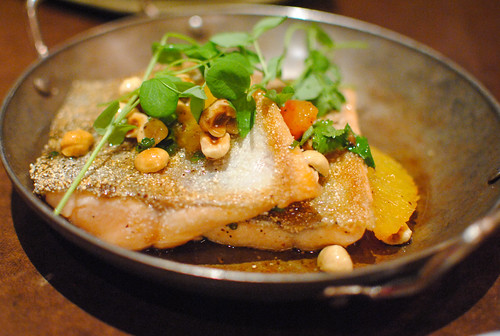 red trout, mandarin, hazelnut-garum brown butter