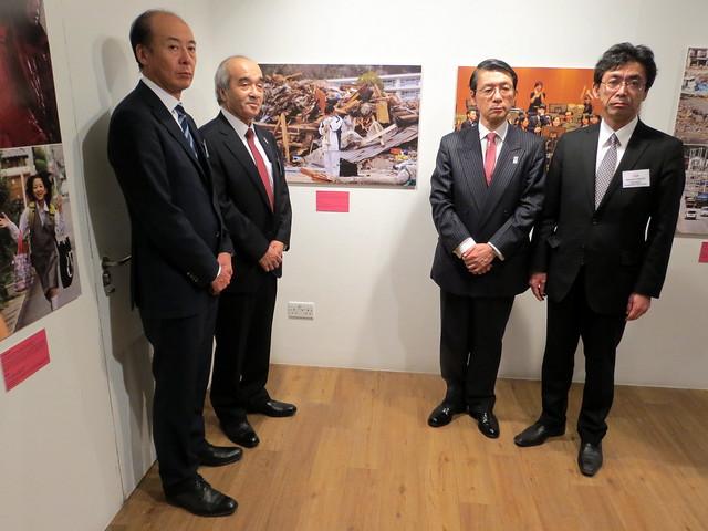 Yasuhito Hirota, Mitsubishi Corporation; Tomoaki Ito, Asahi Shimbun; His Excellency Mr Keiichi Hayashi, Ambassador of Japan to the UK; Kenichi Fukuchi, Asahi Shimbun (L-R)