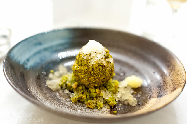 Rosewater parfait, pistachio, orange
