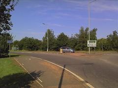 Crossing A10 at Budgens