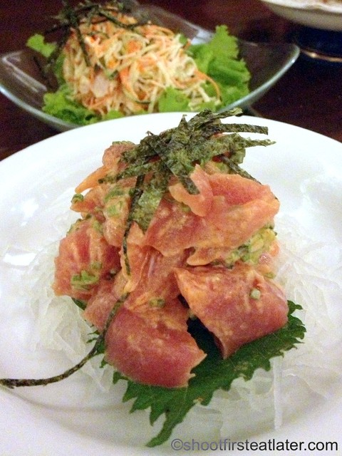 spicy tuna sashimi P340