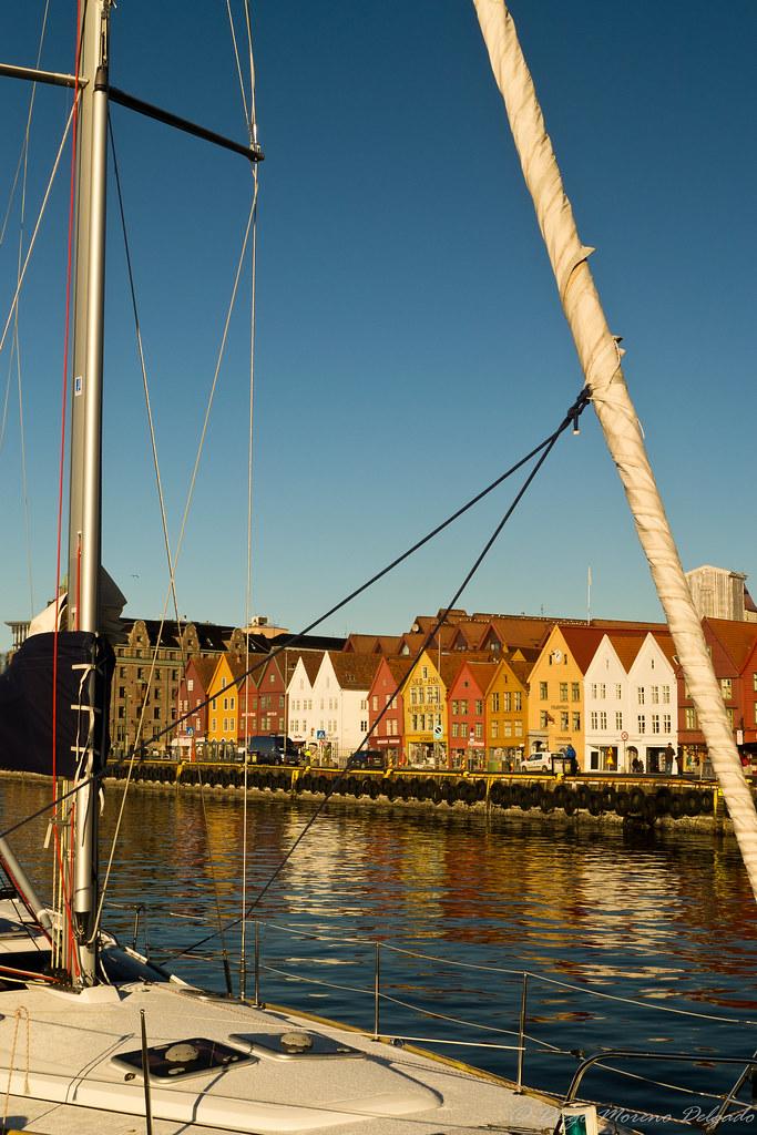 Sailboat in Bryggen