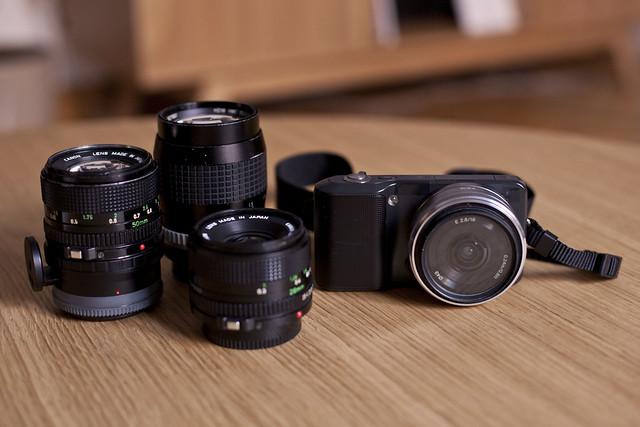Rafael Ricoy´s Sony Nex3 and the FD lens crew