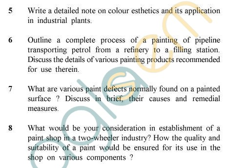 UPTU B.Tech Question Papers - PT-022 - Painting Practices
