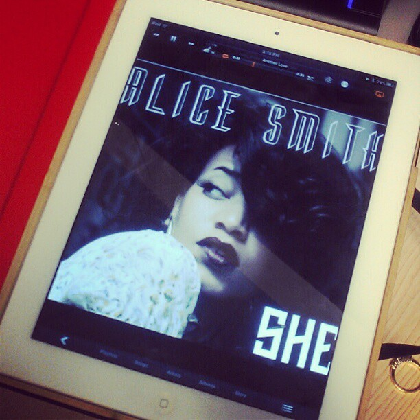 I rarely listen to music at work but today I bought a speaker for my desk just to listen to @alicesmithmusic #AliceSmithShe