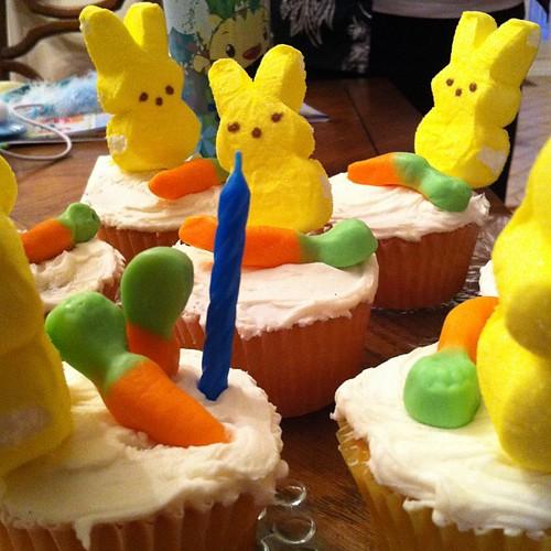 Birthday cupcakes!  LaLa rocked!