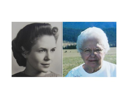 Aunt Hazel Then and Now