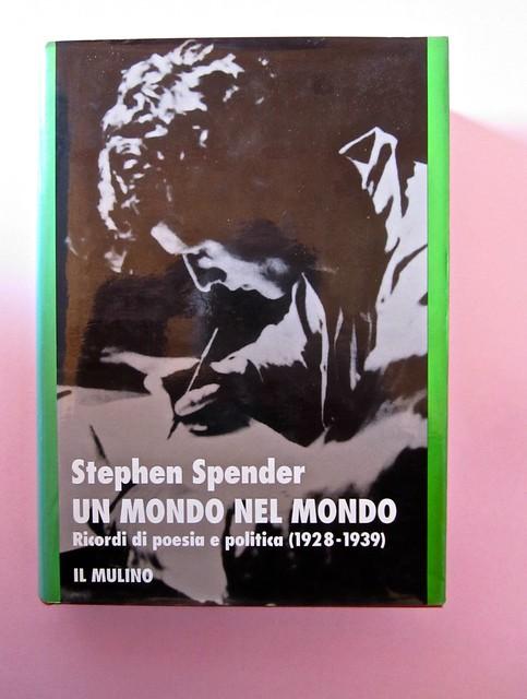 Stephen Spender. Un mondo nel mondo. Il Mulino 1992. Sovracoperta di Alberto Bernini. Prima di sovracoperta (part.), 1