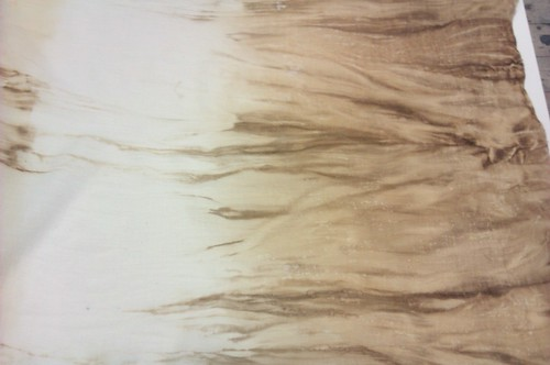 Coffee dip-dyed muslin