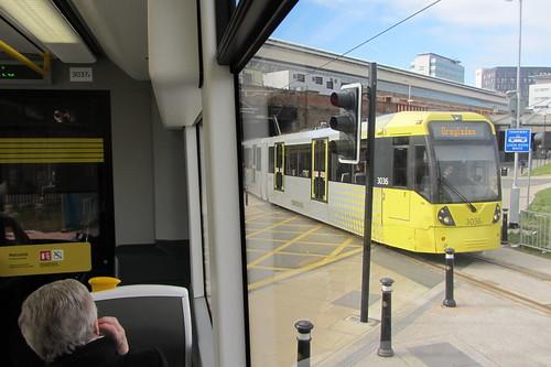 Droylsden bound tram, Piccadilly