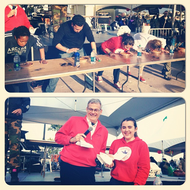 Pie eating competition #cityfoodfestival #citylife #lifeinevents