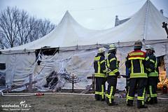 Feuer Zirkuszelt Biebrich 06.04.13
