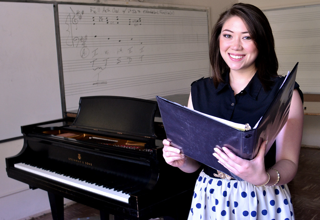 SF State student Rachel Larsen prepared Kundiman, or Filipino art song, for her final recital. Larsen's grandmother was her inspiration for the song.  Photo by Samantha Benedict / Xpress