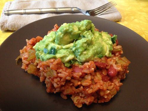 Red Beans and Rice w/ guacamole