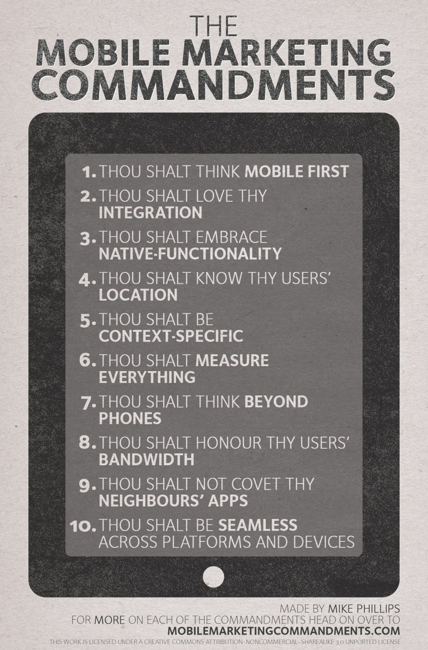 Mobile Marketing Commandments