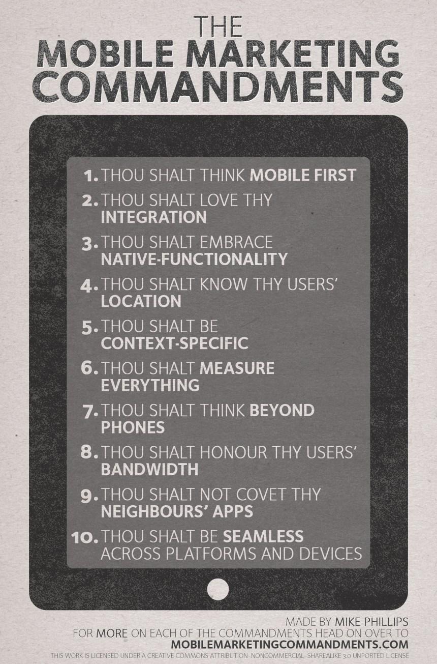 Mobile Marketing Commandments