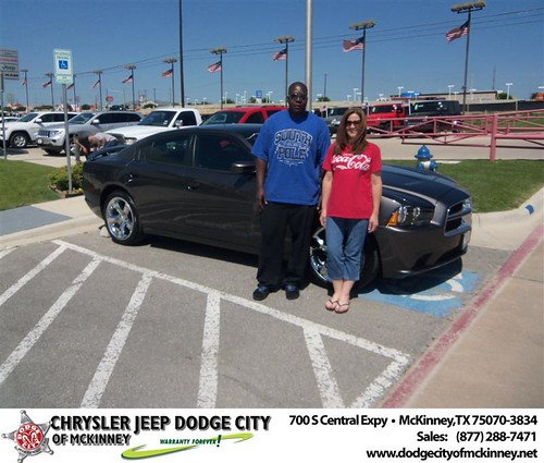 Dodge City of McKinney would like to say Congratulations to Jerry Butler on the 2013 Dodge Charger by Dodge City McKinney Texas
