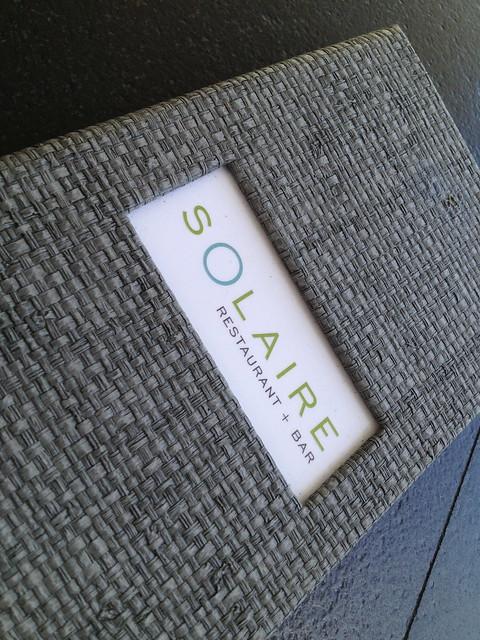 Solaire menu