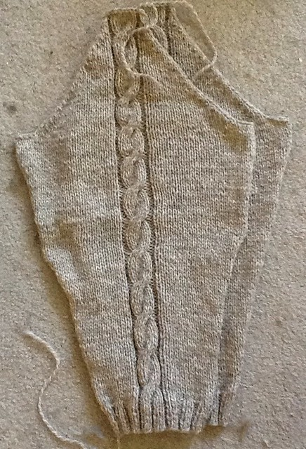 Simple cable cardigan