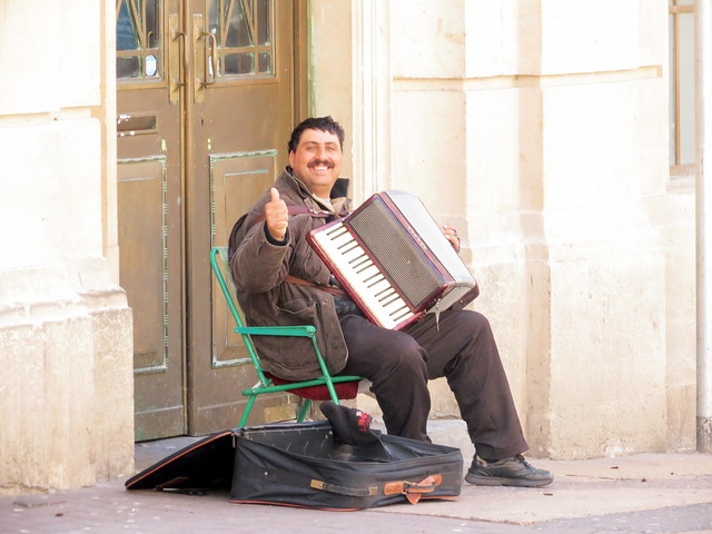 Accordion man in Bristol