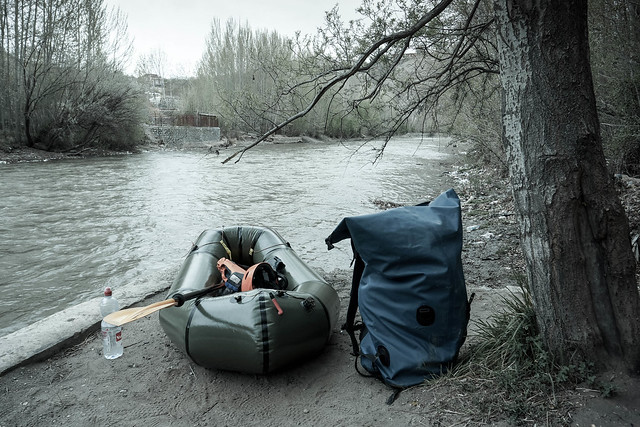 Packrafting preparation