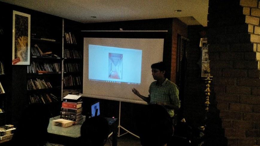 rajiv verma talking at justgo bangalore