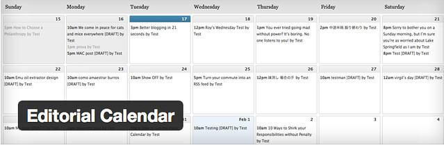 Editorial Calendar - Useful WordPress Plugins