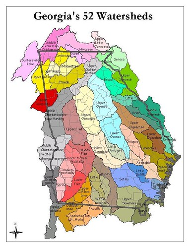 Georgia: 52 Watersheds