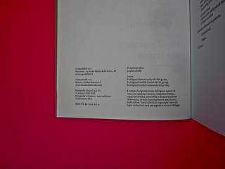 Vincenzo Latromico, Armin Linke, Narciso nelle colonie. Quodlibet Humboldt 2013. Progetto grafico di Pupilla Graphic. Colophon (part.)