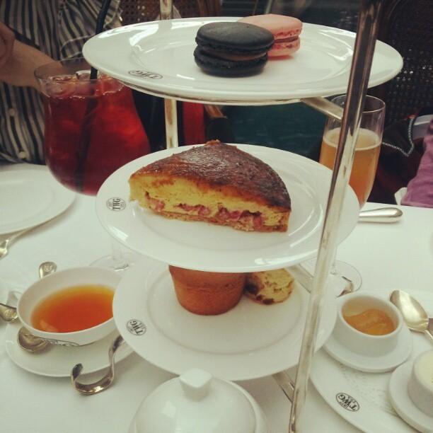 High tea at TWG, Marina Bay Sands