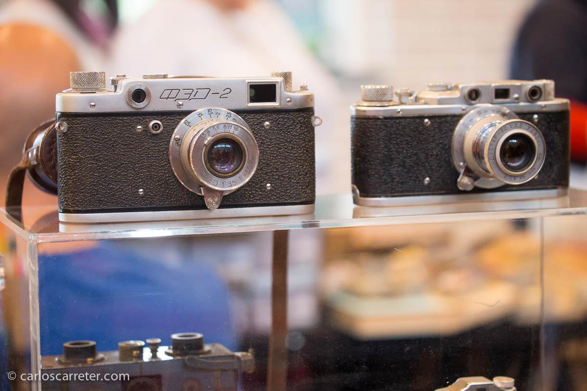 Dos copias rusas de las telemétricas de Leica.
