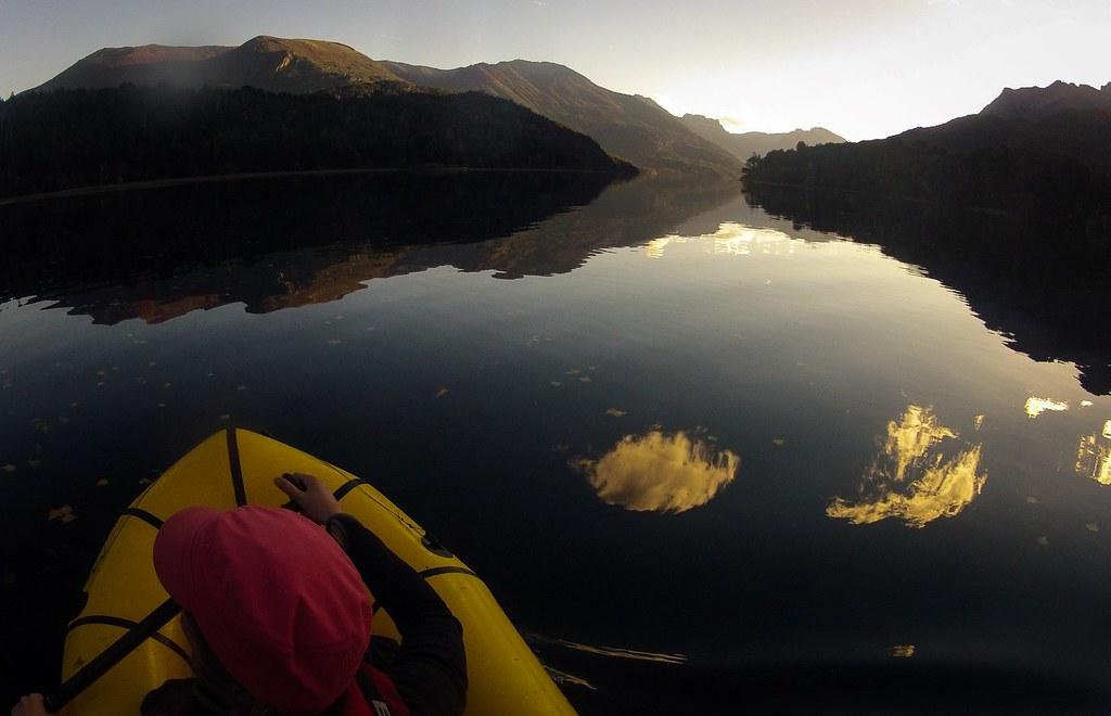 Exploring the Lago Steffen. Nahuel Huapi National Park. Argentina.