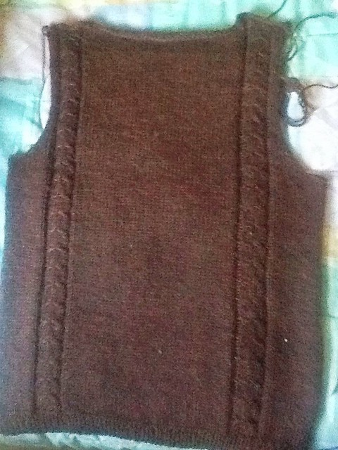 Simple cable pullover