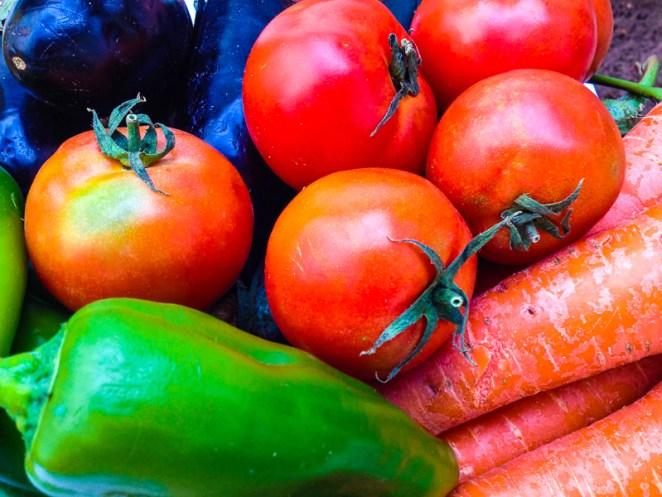 fresh vegetables for Moroccan Tagine