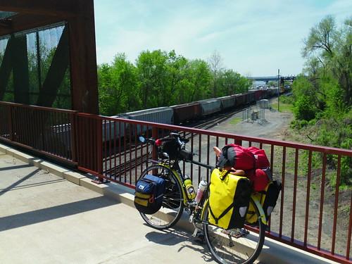 Anacosta River Trail bridge with LHT