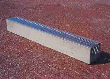 Free Standing Domestic Concrete Drain with Grate  Flickr